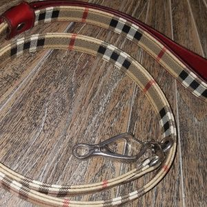 Authentic Burberry Leather Dog Leash
